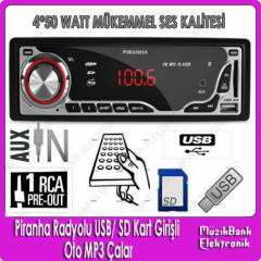 Piranha Radyolu USB/ SD Kartl� Oto MP3 �alar
