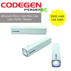 CODEGEN IF28-W Mini-Micro USB Uyumlu 2800 mAh Li