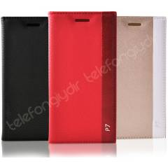 Huawei Ascend P7 K�l�f Deluxe Flip Cover +3FLM