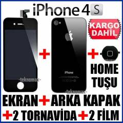 APPLE �Phone 4S LCD Ekran+Arka Kapak + Home Tu�u