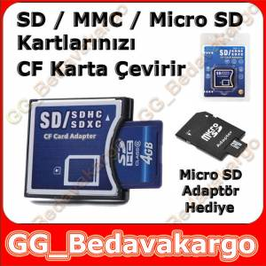 SD MMC M�CRO SD to Compact Flash Kart �evirici