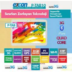 Excon Ptab10 10,1 in� ips ekran 8 mp 3g