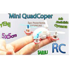 QuadCopter Rc Helikopter - Mini Boy �arjl� 5x5cm