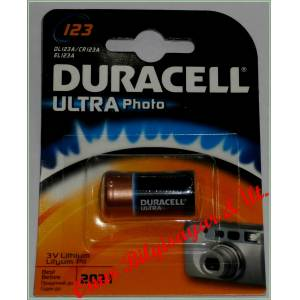 DURACELL ULTRA Photo Pil CR123A DL123A EL123A