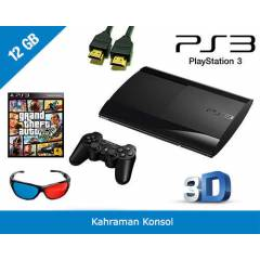 SONY PS3 12 GB PAL 3D SUPER SLIM + GTA 5