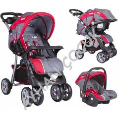 Kanz Kz-4007 �ift Y�nl� Travel Set Bebek Arabas�