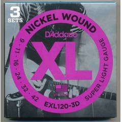 D'addario EXL120-3D Super Light Tak�m Tel