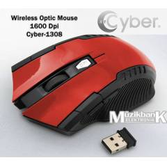 Wireless Optic Mouse 1600 Dpi Cyber-1308