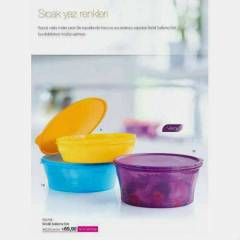 TUPPERWARE RENKL� SAKLA 3'L� SET