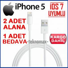 iPhone 5/5C/5S Usb Kablosu �OS 7 UYUMLU Data�arj