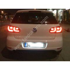 POLO GOLF JETTA PASSAT SCIROCCO LED PLAKA SET�