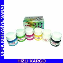 RED ROSE SU BAZLI CAM BOYALARI 6x20 ml
