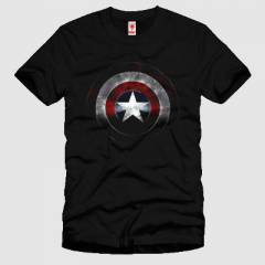 CRAZY Captain America Shield Erkek Ti��rt