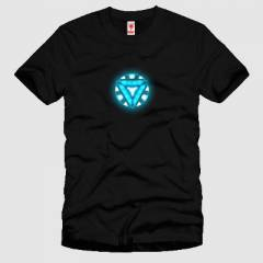 CRAZY Iron Man Arc Reactor Erkek Ti��rt