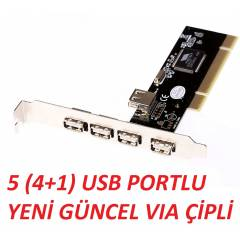PCI 4+1 5 PORT USB �OKLAYCI �O�ALTICI KART