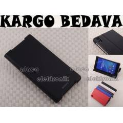 SONY XPERIA Z2 KILIF STYLE COVER STAND + X2 F�LM