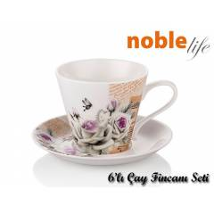 Noble Life 15547 White Rose 6L� �ay Fincan Seti