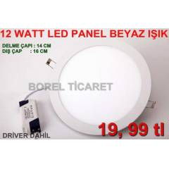 12 WATT LED PANEL -SL�M PANEL -LED SPOT BEYAZ