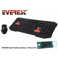 Everest Km-9669 Kablosuz Klavye Mouse Set