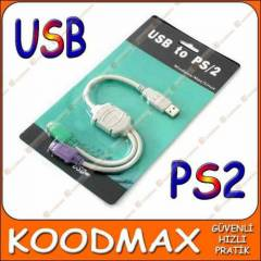Usb PS2 Klavye Mouse �evirici Adapt�r