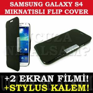 SAMSUNG GALAXY S4 KILIF MAGNETIC FLIP COVER FULL