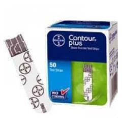 Bayer Contour Plus Blood Glucose- 50 Test Strips