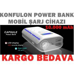 Power Bank 10.000 mAh Ta��nabilir �arj LCD Ekran