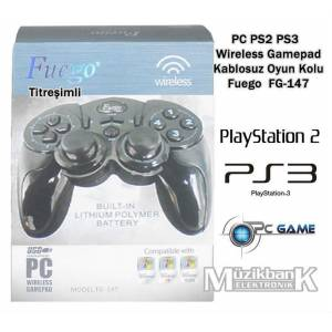 PC PS2 PS3  Wireless Gamepad Kablosuz Oyun Kolu