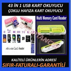 43 in 1 CARD READER �oklu Kart Okuyucu USB 2.0