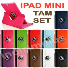 iPad Mini K�l�f 360� D�n. + Film+ Kalem 8 Renk