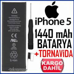 APPLE iPhone 5 BATARYA 1440 mAh +TORNAV�DA GFS
