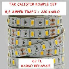 5630 �ER�T LED 8 ��PL� ��MEKAN 5 METR KOMPLE SET