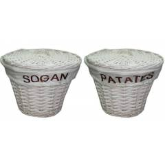 Patates So�an Saklama Sepeti Has�r Sepet 1 Adet.