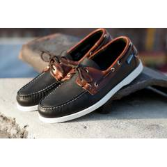 Sebago SPINNAKER Men's Boat Shoe in Black/Brown