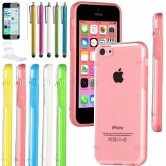 iPhone 5c K�l�f Silikon �effaf Renkli Apple USA