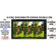 6.9 in� Double Din Navigasyonlu W�-F� TV DVD USB