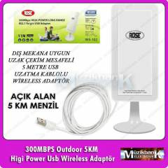 Outdoor 5KM Higi Power Usb Wireless Adapt�r Rose