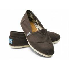 Toms Ayakkab� Chocolate Canvas Women's Classic
