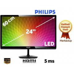 "Philips 247E4LHSB/00 24"" 5ms Full HD LED Monit�r"