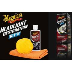 Meguiars ONE-STEP Kit Far Plastik Temizleme Kiti