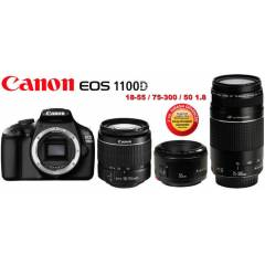 CANON EOS 1100d + 18-55 mm + 75-300mm +50mm
