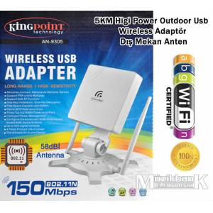 58 dB� HIGH POWER USB WIRELESS ALICI K�NGPO�NT