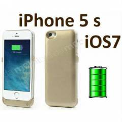 iPhone 5 5s iOS 7 Uyumlu �arjl� K�l�f Pilli Kapa
