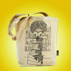 CURLY - Keten Bez �anta - Bookbag  - Tote Bag