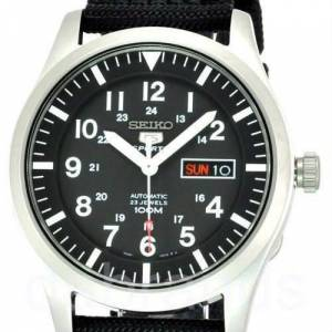 Seiko Men's Sport Automatic Black MilitarySNZG15