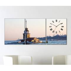 Tabloshop - K�z Kulesi 3 Par�al� Canvas Tablo