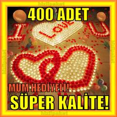 400 ADET G�L YAPRA�I + TEAL�GHT MUM HED�YE A++