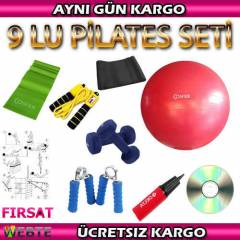 COSFER P�LATES SET� 9 LU - DAMBIL 65 CM TOP BANT