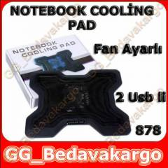 Laptop Notebook So�utucu Fan Ayarl� 2 Usb li