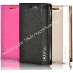 Samsung Galaxy Ace 4 K�l�f Deluxe Flip Cover